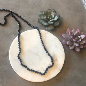 🌸6 for $15 Jewelry Sale Black Long Beaded
